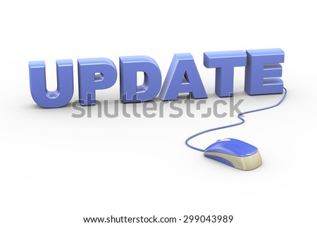 3d rendering of computer mouse connected to word text update