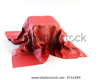3d rendering of crumpled cloth