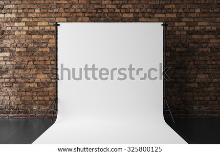 3d rendering of cyclorama - stock photo
