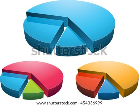 3D rendering of digital charts on white background '3D rendering'
