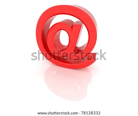 3D rendering of e-mail sign. - stock photo