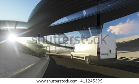 3D rendering of generic transportation concept