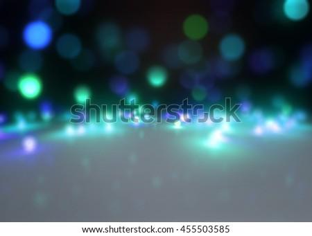 3d rendering of glitter sparkles rays lights bokeh background. - stock photo