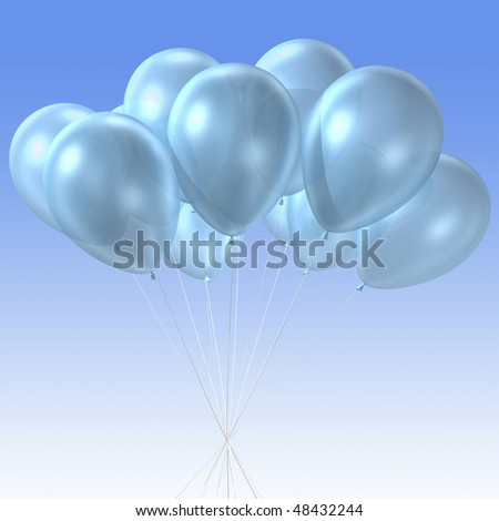 3d rendering of  group of the balloon