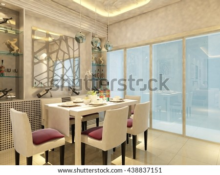 3d rendering of home interior