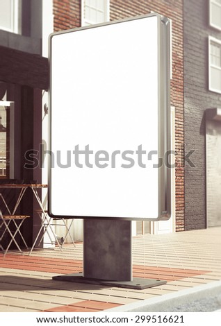 3d rendering of lightbox mockup - stock photo