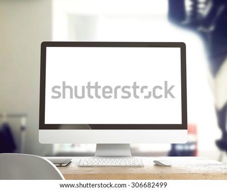 3d rendering of loft studio - stock photo