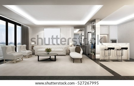 3D rendering of Luxury room design