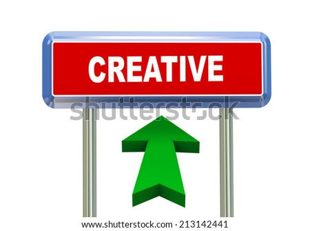 3d rendering of moving arrow and roadsign singpost of of concept of creative - stock photo