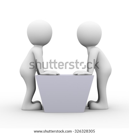 3d rendering of people conflict quarreling concept.  Two business man having standoff. Concept of conflict and dispute between couple. - stock photo