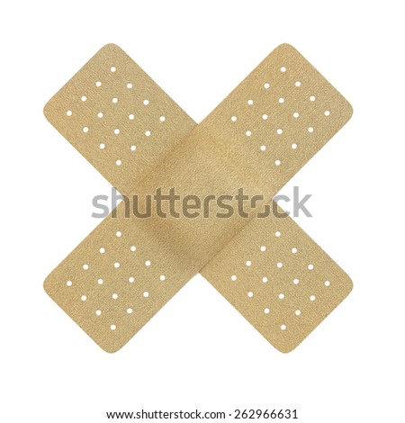 3d rendering of plaster cross isolated over a white background - stock photo