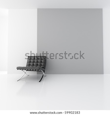 3d rendering of simple space design. - stock photo