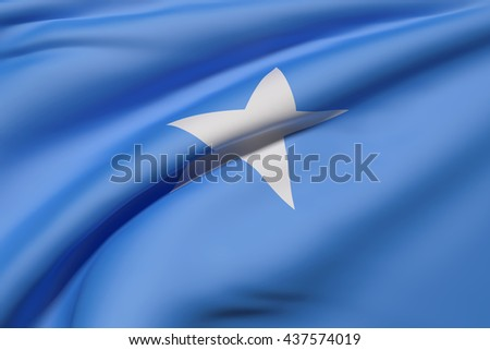 3d rendering of Somalia flag waving - stock photo
