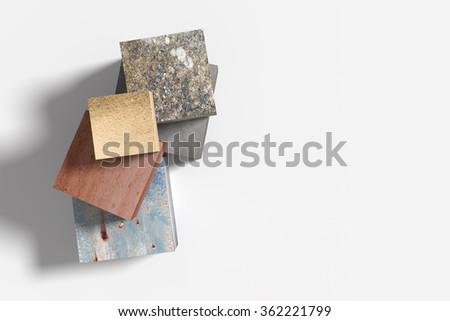 3d rendering of some cubes made of different material. Illustration - stock photo