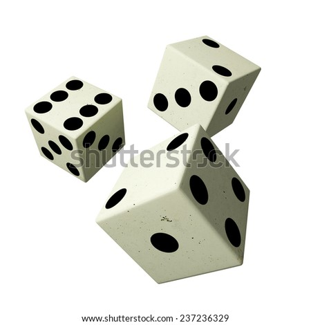 3d rendering of some dices on a white background