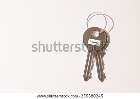 3d rendering of some keys on a white background - stock photo