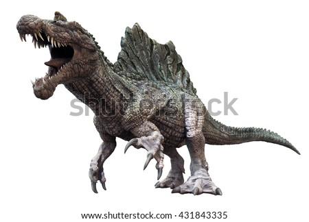 Spinosaurus 3d Render Stock Illustration 371212531 ...