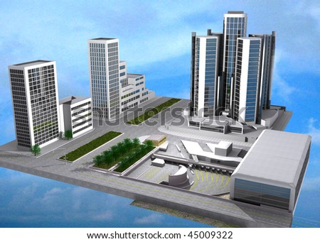 3d rendering of the Detroit Windsor tunnel - stock photo