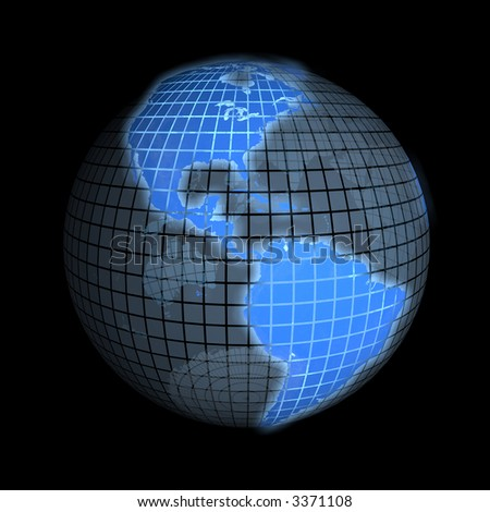 3d rendering of the earth, focus on america. check my portfolio for - stock photo