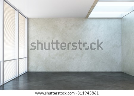 3d rendering of the empty office room - stock photo