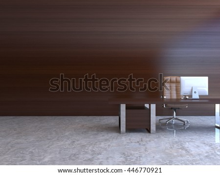 3D-rendering of the interior office space
