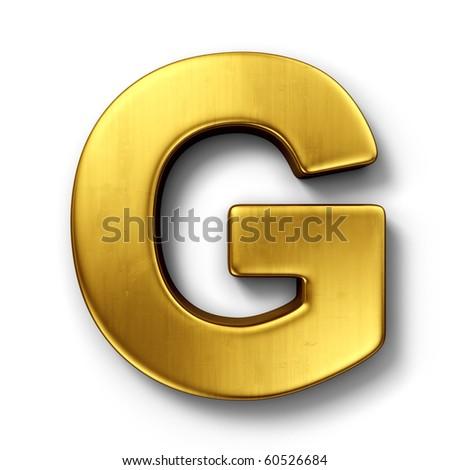 3d rendering of the letter G  G Logo 3d