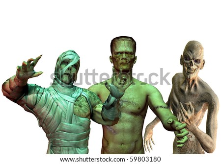 3D Rendering of the Little Horror Show - stock photo