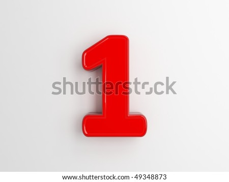3d rendering of the number 1 - stock photo