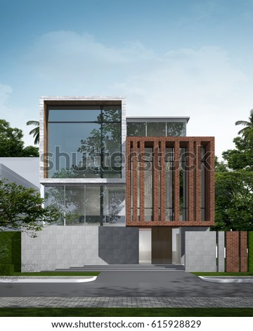 House Elevation Stock Images RoyaltyFree Images Vectors - Tropical house colors