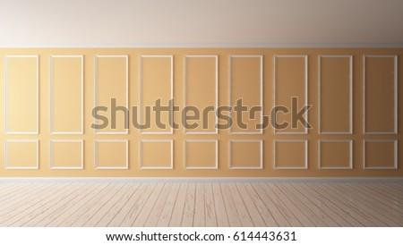 3 D Rendering Wall Color Pastel Orange Stock Illustration 614443631 ...
