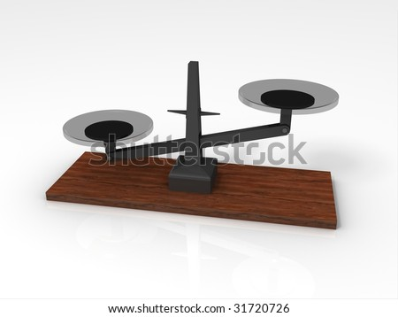 3D Rendering of Weighing Scale - stock photo