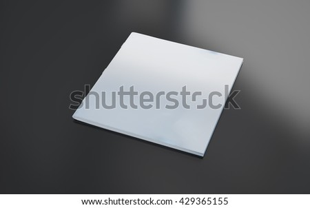 3d rendering ok blank square brochure - stock photo