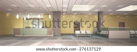 3d Rendering Reception Area