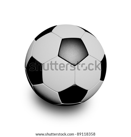 3D rendering soccer ball - stock photo