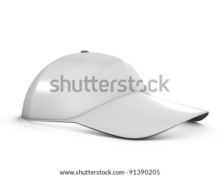 3d rendering, Stock cap template, isolated on white background. - stock photo