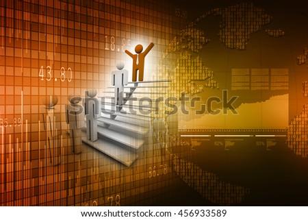 3d rendering Team leader - stock photo