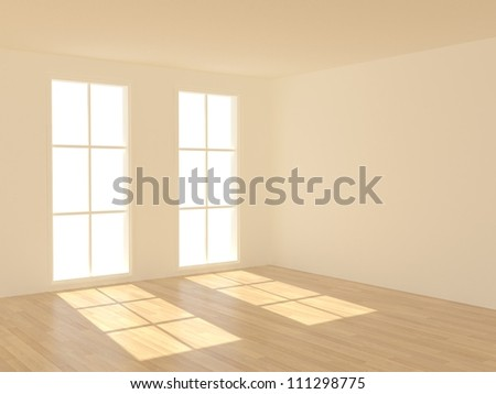 3d rendering the empty room - stock photo