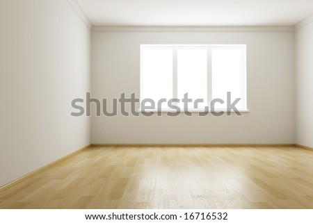 3d rendering the empty room - stock photo