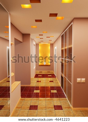 3d rendering the interior of the sitting-room - stock photo