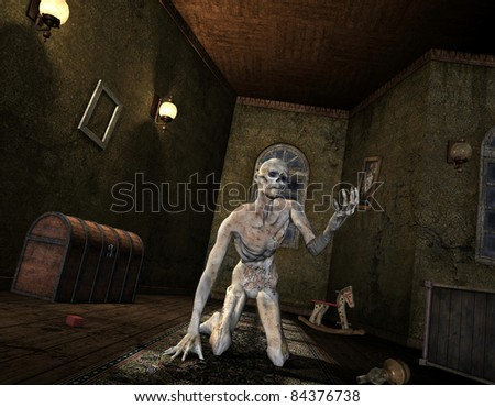 3D Rendering - Undead in an old room