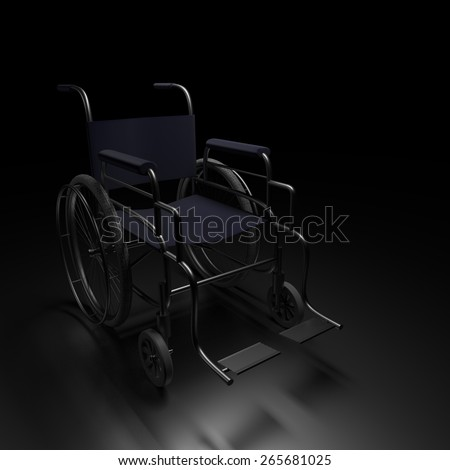 3d rendering wheelchair in the background. - stock photo