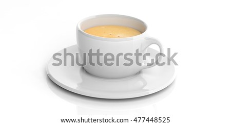 3d rendering white cup of coffee