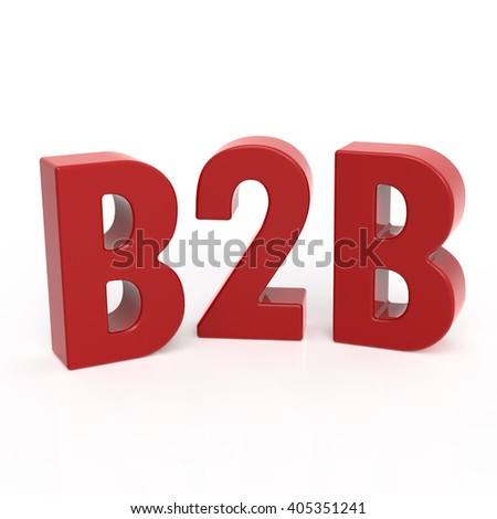 3D rendering word - B2B isolated on white background - stock photo