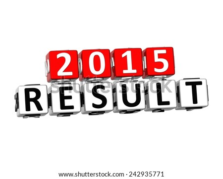 3D 2015 Result on white backgound
