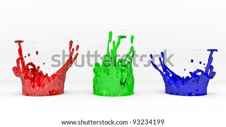 3D RGB concept - stock photo