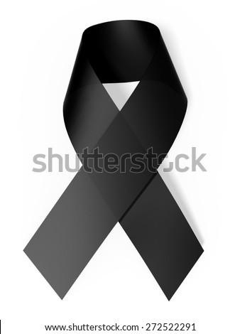 3D. Ribbon, Ribbon, Grief. - stock photo