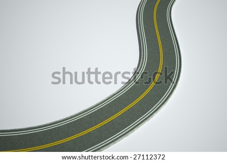3D road illustration - stock photo