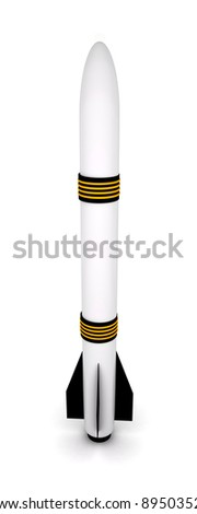 3D Rocket Air Defence Russian and European - stock photo