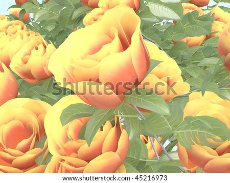 3d rose - stock photo