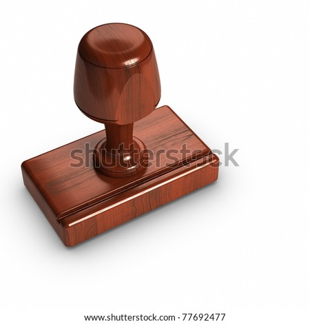 3D - Rubber stamp. - stock photo